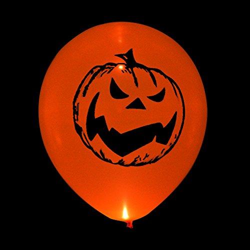 32 Stück LED Kürbis Luftballons Leuchten Ballons Glühen Ballon blinkende Lichter für Halloween Party (Halloween Luftballons)