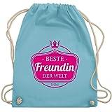 Typisch Frauen - Beste Freundin der Welt - Unisize - Hellblau - WM110 - Turnbeutel & Gym Bag