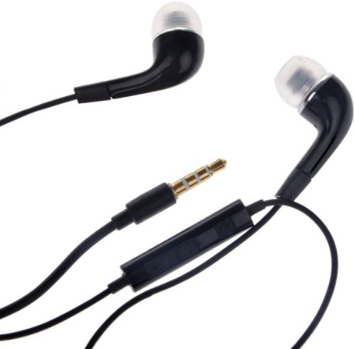 Brand New 3.5mm Jack Stylish Design In Ear Earphones Black Headphones Headset with Mic + Volume Controler Comfortable fitting For Samsung Galaxy S3 S3 S4 S5 / Note 1 2 3 / Grand / Grand Neo / Champ / Ace S5830 / Ace 2 / Ace 3 / Galaxy Tablets Tabs / Apple iPhone 5 5S 5G 4 4S 4G 3 3G / iPad 2 3 4 / MP3 & MP4 Players / HTC / Blackberry / Micromax / Karbonn / Spice / PC / Laptops / Computers / For All Other 3.5mm Jack Android or Windows Mobile Phones, Tablete, Phablets - Black Color / Box Packed