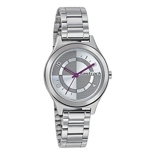 Fastrack Women Analog Watch - NK6152SM01 (Silver)