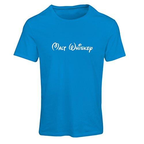 Frauen T-Shirt Malt Whisky - lustige Trinkzitate, coole Alkohol Sprüche (XX-Large Blau Weiß) (Jubiläum Fitted T-shirt)