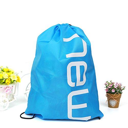 SUNERLORY Kordelzug Brief drucken Candy Bag Satchel Rucksack Bundle Tasche Kordelzug Tasche Mochila(Himmelblau) - Candy Satchel