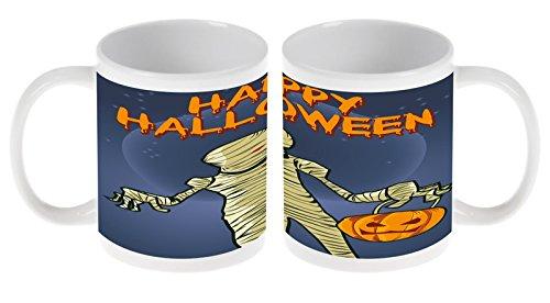 LEotiE SINCE 2004 Kaffetasse Tasse Kaffeebecher Becher Latte Cappuccino Espresso Nostalgie Happy Halloween Keramik Durchmesser 80mm x Höhe 93mm - 300 ml Inhalt Bedruckt