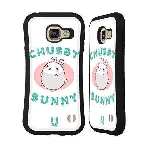 Head Case Designs Marshmallow Rundliches Häschen Hybrid Hülle für Samsung Galaxy A3 (2016)