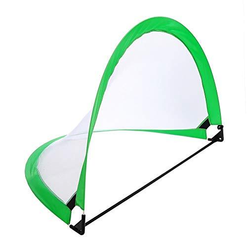LEOO Fußballtor - tragbares Futsal-Fußballnetz - das ursprüngliche Ziel des Abholspiels (Zwei Tore und Tasche) (Farbe : Grün)