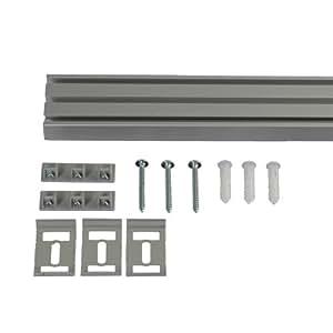 liedeco vorhangschiene 3 l ufig f r vorh nge schiebevorhang aluminium 165 cm. Black Bedroom Furniture Sets. Home Design Ideas