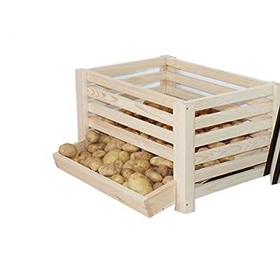 Kartoffelhorde für 50kg Kartoffeln lagern Kartoffelbox Kartoffelkiste Holz von No Name bei Du und dein Garten