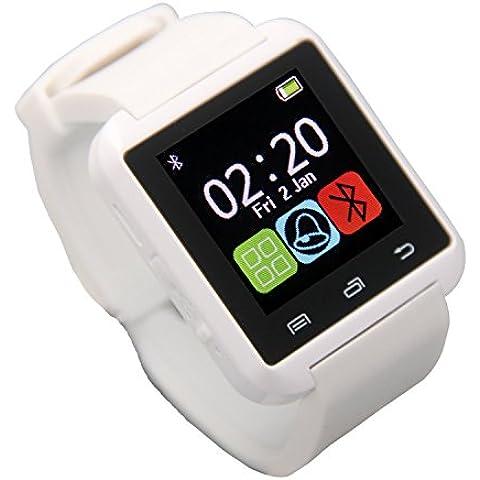 Gtide U8 Plus SmartWatch Bluetooth 3.0 pulsera de silicona Soporte de pantalla táctil / contestar o realizar llamadas / reproductor de música para el teléfono móvil Android IOS (blanco)