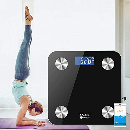 Bluetooth Bathroom Scale WiFi Intelligent Body Fat Scale Smartphone APP Human Household Electronic Scales Präzisionsmessung Integrierte Struktur 180KG