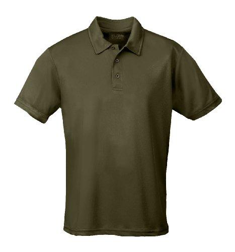 Just Cool - Performance - Performance Polo Shirt, atmungsaktiv, Shirt, atmungsaktiv, XL,Olive (Wicking Polo-shirt Männer)