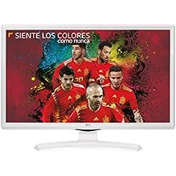 'LG Electronics 28tk410V-wz-Moniteur/TV de 28LED avec TDT2HD (1366X 768Pixels, Mode Jeu, USB Autorun), Couleur Blanc