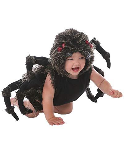 Baby Gruselig Kostüm - Horror-Shop Tarantel Kostüm für Spinnen-Babys an Halloween & Fasching S (12-18 Mon.)