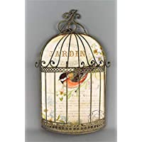 Four Seasons- Jewellery Necklace Bracelet Wall Bird Cage Jardin Botanique Decor with hooks for hanging