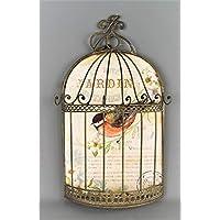 FSL- Jewellery Necklace Bracelet Wall Bird Cage Jardin Botanique Decor with hooks for hanging