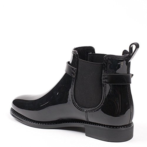 Stiefel Damen Stiefeletten Schwarz Ideal Shoes Ideal Shoes amp; 4WI1B6qx8c