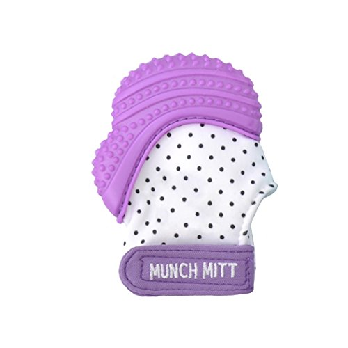 Munch Mitt Baby Teething Mitten - Purple by Munch...