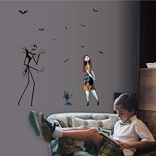ylckady Persönlichkeit Kreative Halloween Wandaufkleber Halloween Ghost Und Zombies Liebe Wohnzimmer Schlafzimmer Wandaufkleber (Paw Patrol-halloween Ghost)