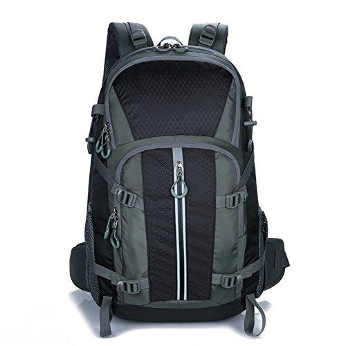 facecozy Outdoor Herren & Frauen Rucksack 40L groß Kapazität Unisex Sport Bag Wasserdichte atmungsaktiv Farbe Reisen Camping Angeln Rucksack Schwarz