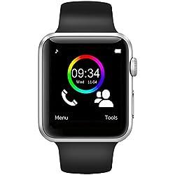 Boutique Connectée Montre Connectée Smartwatch pour Smartphone Compatible Android Apple iOS Windows Bluetooth 4.2 Montre Intelligente avec Slot Carte SIM Carte SD et Fonction Sport