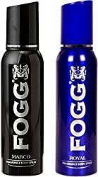 Fogg 1 Marco and 1 Royal Deodorant Combo Pack of 2 Body Spray - For Men (240 ml, Pack of 2)