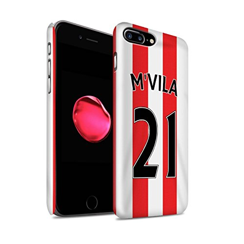 Offiziell Sunderland AFC Hülle / Glanz Snap-On Case für Apple iPhone 7 Plus / Matthews Muster / SAFC Trikot Home 15/16 Kollektion M'Vila
