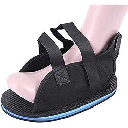 Boot Rocker Mit Klettfuß Fraktur Chirurgischer Schuh Stabilitätsfraktur Schuhüberzug,Black,Xscode(20Cm)