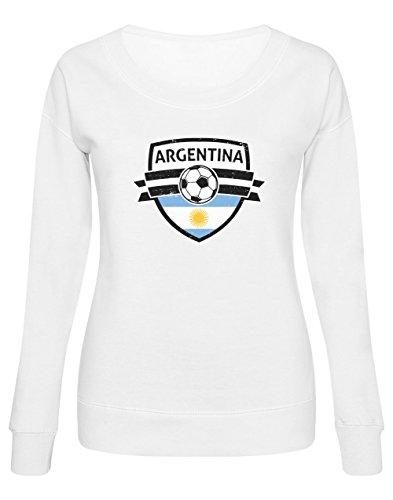 Green Turtle T-Shirts Allez Les Argentins ! Argentina Mondial Football Sweatshirt Femme Large Blanc