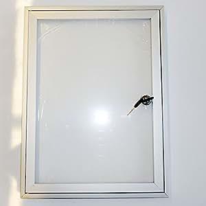 schaukasten infokasten mit klappt r f r au en 1x din a4 b robedarf schreibwaren. Black Bedroom Furniture Sets. Home Design Ideas