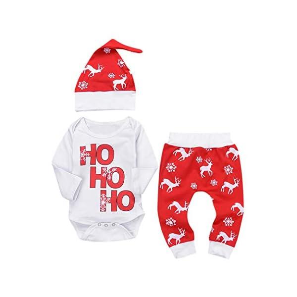 K-youth Ropa Bebe Nino Recien Nacido Otoño Invierno Infantil Body Bebe Niña Conjunto Bebé Mono Navidad Papá Noel Letra… 1