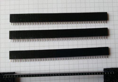 Fach Raster (5x Buchsenleiste Stiftleiste 2.54mm Raster 40-fach - einreihig gerade, RS1-40-T)