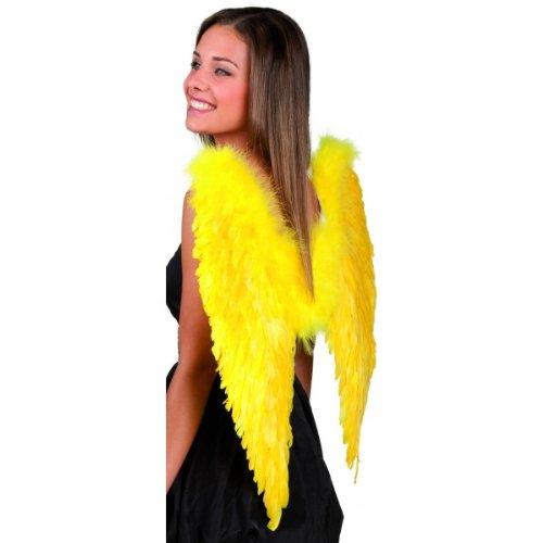 Flügel Engel Federflügel gelb (65 x 65 (Engel Kostüm Gelber Flügel)
