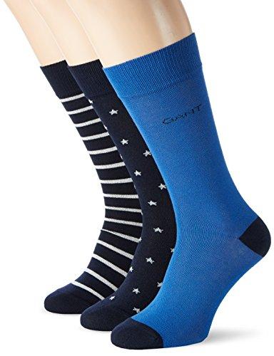 GANT Herren O 3-Pack Stars & Stripes Socks Blau (YALE BLUE 436)