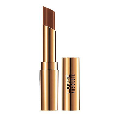 Lakme Absolute Argan Oil Lip Color, 20 Burnt Brown, 3.4g