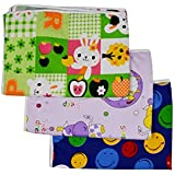 Sharma Clothing-New Born Baby Cotton, Plastic, Microfiber Sleeping Mat Waterproof Foam Cushioned - Set Of 3 (Small (0 To 3 Months))