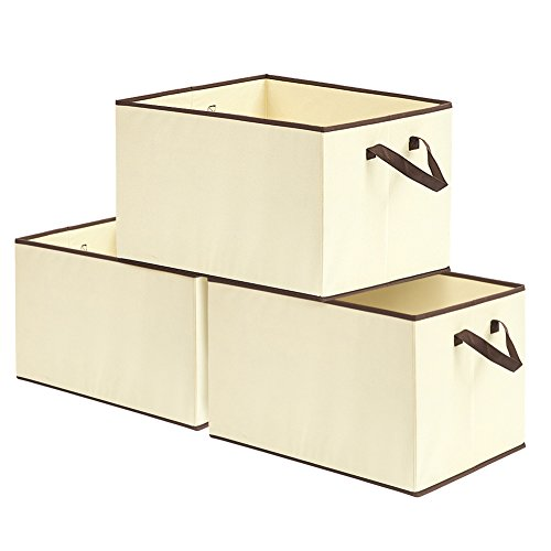 EZOWare Caja de Almacenaje con 3pcs(57L), Set de 3 Cajas de juguetes, Caja de Tela para Almacenaje,