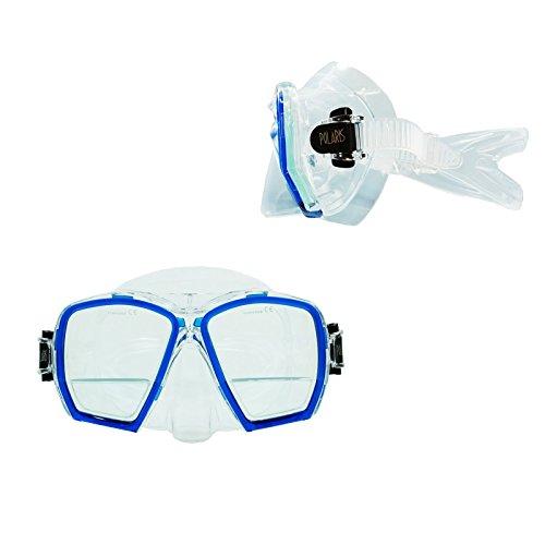 """'Polaris """"Plus Masque de plongée avec verres de lecture correction + 1,75dioptrie LUNETTES DE plongée Bleu transparent"""
