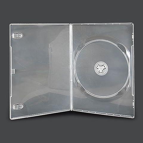Confezione da 25 custodie per DVD/CD/BLU RAY, sottili, 7mm, colore trasparente