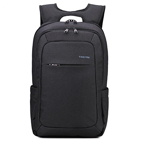 GreenForest Deluxe waterproof High quality Business backpack travel bag Grey Anti-thief zipper