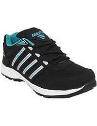 Arexon Men's Synthetic Black Colored Sport Shoe( Men's Running Shoe, Breathable Sports Shoe, High Grip Sports... - B074Q1RL4W