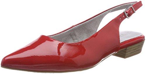 Tamaris Damen 29402 Slingback Sandalen, Rot (Chili Patent), 36 EU