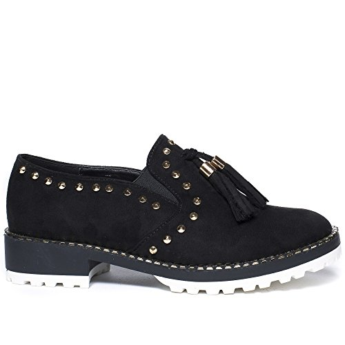 Ideal Shoes ,  Scarpe stringate donna Nero
