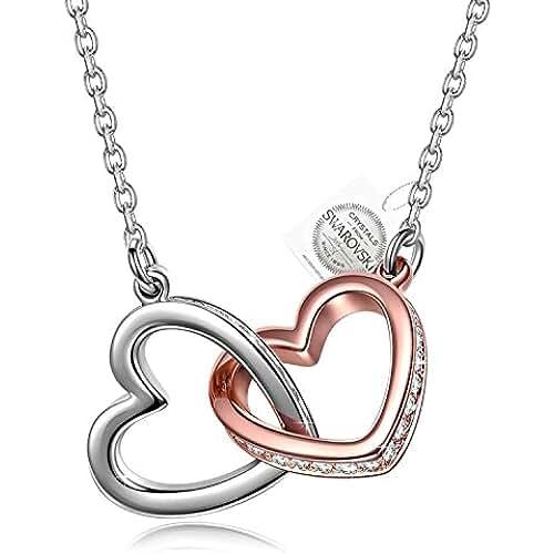 ofertas para el dia de la madre PAULINE&MORGEN Mi Destino Collar para Mujer fabricados con cristales SWAROVSKI y caja de regalo
