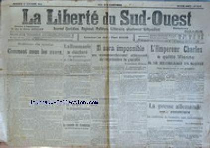 LIBERTE DU SUD-OUEST (LA) [No 3543] du 1...