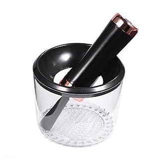 Elektrisch Make-up Pinsel Reiniger, Make-up Pinselreiniger Set Elektrische Kosmetik Reinigungswerkzeug mit UV-Desinfektionslampe Schwarzes Gold