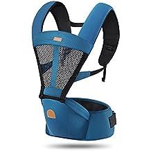 ThreeH Porta bebè maglia traspirante in rete per il bambino con sedile in nylon estraibile BC03