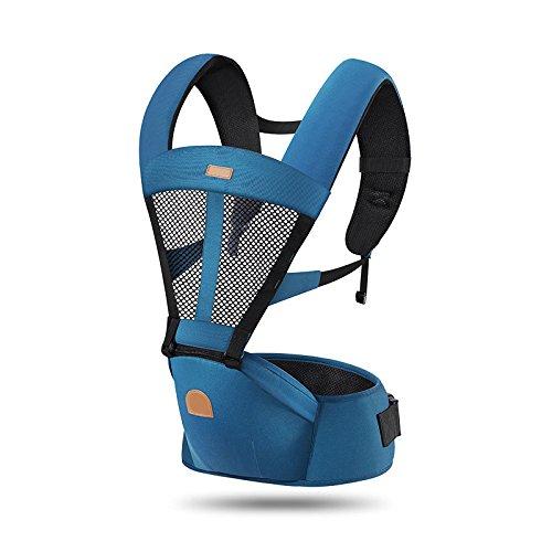 ThreeH Portabicicletta ergonomica con sedile in nylon estraibile per i neonati BC03,Navy