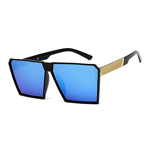 KOMEISHO Neue Designer - Sonnenbrille Sonnenbrille der Retro- Quadratischen Dame übergroße Bunte Linse-kühle Sonnenbrille für Frauen UVschutz-Treibende Sonnenbrille glänzende Rosa