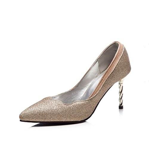 RFF-Chaussures de printemps, d'été et d'automne Escarpins Femme/Ouvert/European and American High-Heel Shoes Fine with Point Light-President Shoes