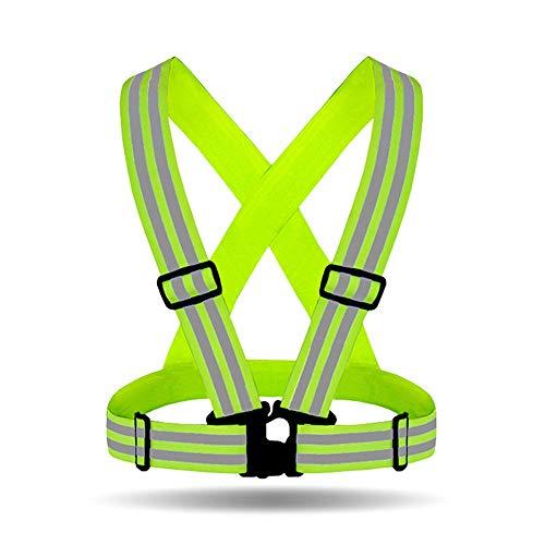 WYNZYSLBD Reflektierende Sicherheitsweste, Hohe Sichtbarkeit, Einstellbare Größe, Outdoor-Arbeit Herz, Radfahren, Joggen, Gehen (Color : 2 Pack Yellow) - Radfahren Herz