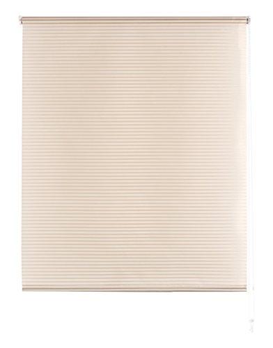 Blindecor Iris - Estor enrollable translúcido rayado, 160 x 180 cm, color marfil